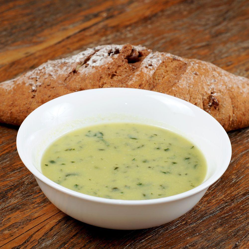 Sopa de Batata-Doce com Alho Poró - 58 kcal