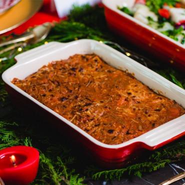Canelone de Queijos com Ragú de carne 1,5 kg (Sob Encomenda)