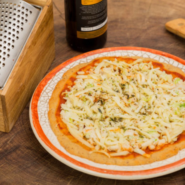 Pizza de Frango com Alho Poró 380kcal 150g LOWCARB