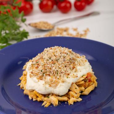 Escalopes de Filé Mignon ao Pomodoro, Risoni Milanês e Mix de Legumes - 397 kcal